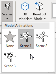 Scenes within the 3D Model Tools Format tab