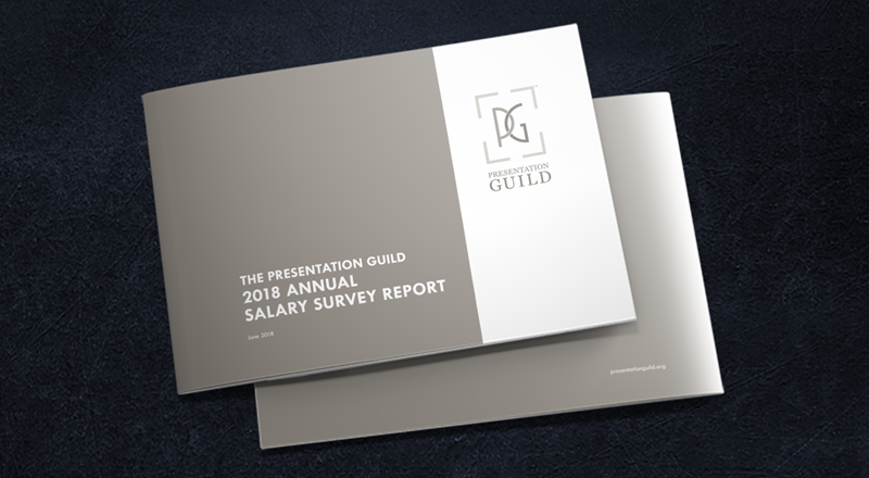 Photo of cover of 2018 Presentation Guild Annual Salary Survey Report