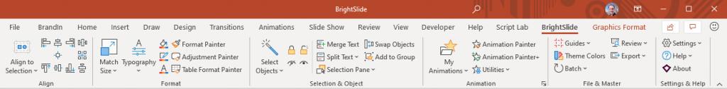 Brightslide tool bar